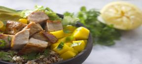 Quinoa and Pork Bowl with Mango