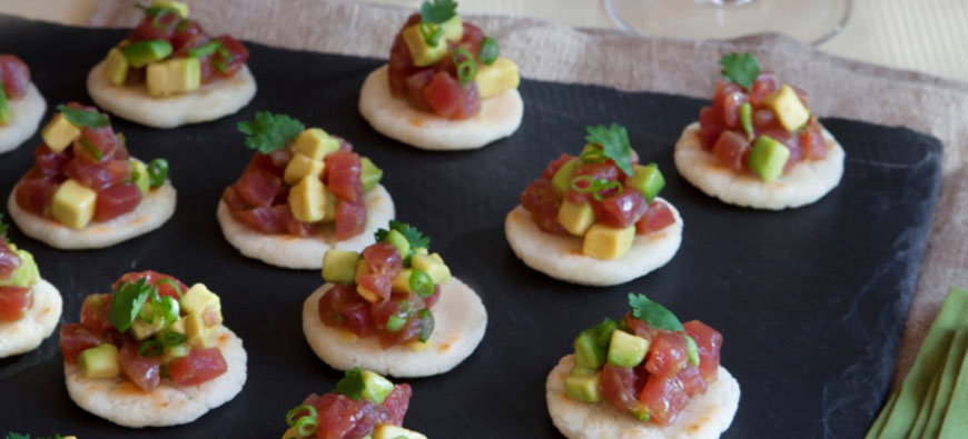 Arepas with Avocado & Ají Amarillo Tuna Tartare - simple recipe - The Kitchen doesn't Bite - Doreen Colondres