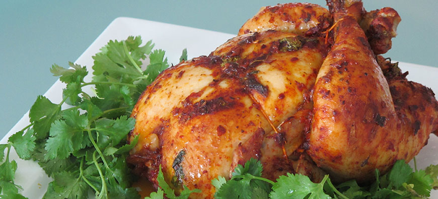 Chile Guajillo Roasted Chicken - simple recipe - The Kitchen doesn't Bite - Doreen Colondres
