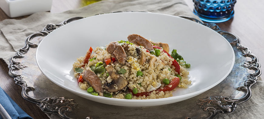 Quinoa Pork Chaufa - simple recipe - The Kitchen doesn't Bite - Doreen Colondres