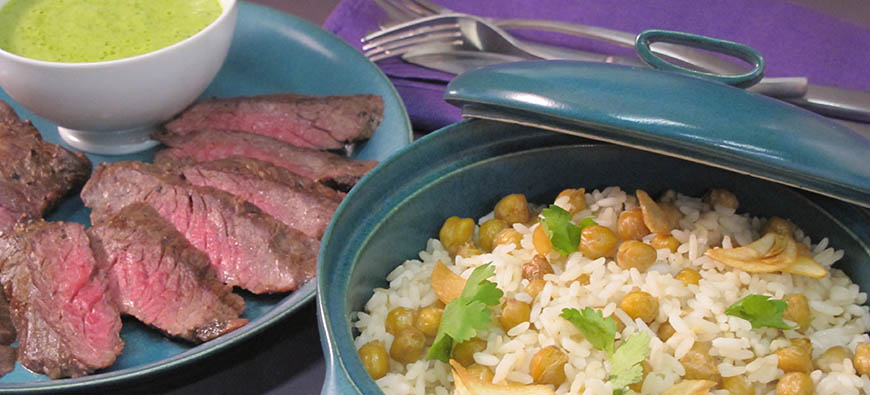 Rice with chickpeas and garlic - The Kitchen doesn't Bite - Doreen Colondres