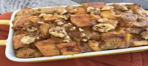 Pumpkin and Butternut Squash Bread Pudding