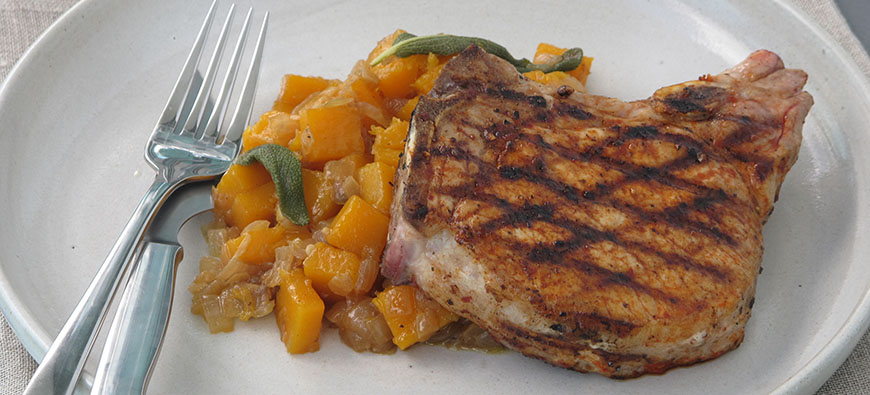 Panca Pork Chops with Pumpkin Sofrito- simple recipe - The Kitchen doesn't Bite - Doreen Colondres